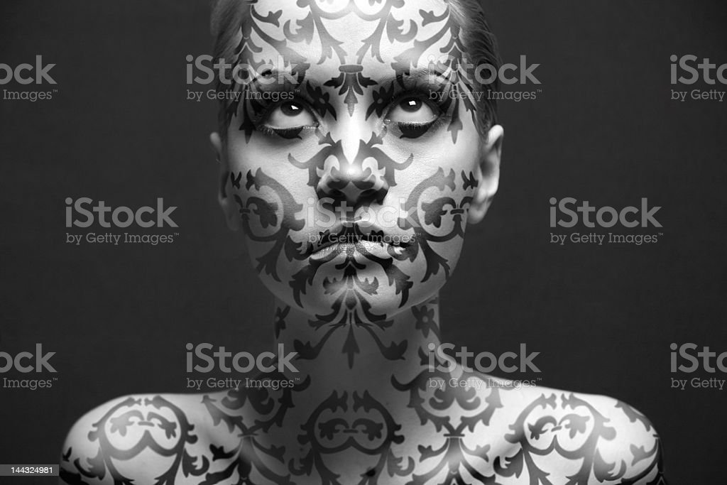 portrait of girl with make-up royalty-free stock vector art