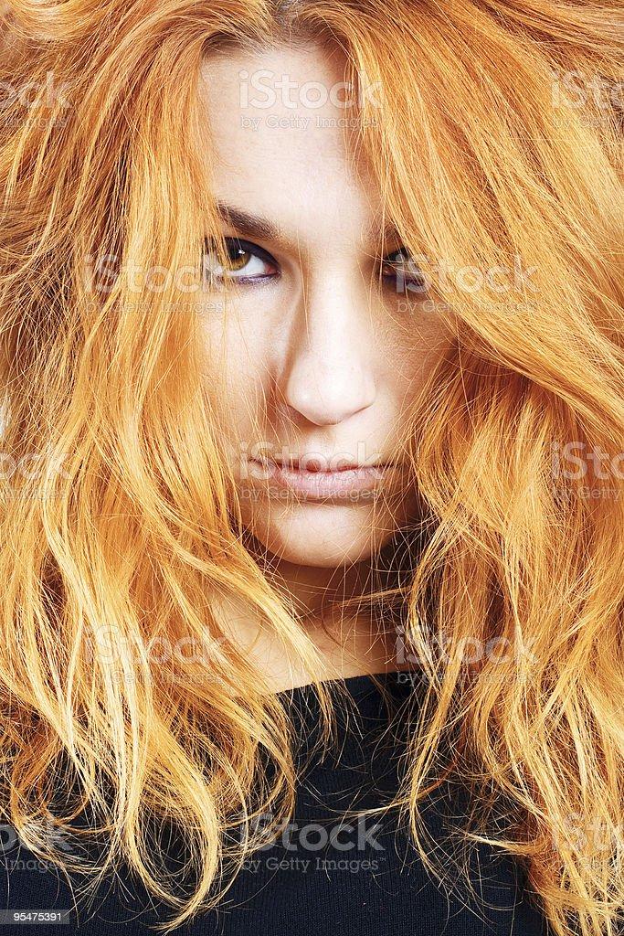 Retrato de niña con Photoshop rojo foto de stock libre de derechos