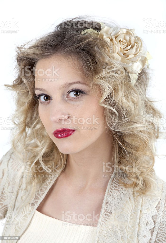 Portrait of glamour woman royalty-free stock photo