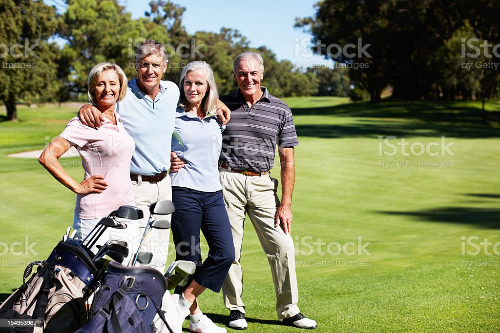 Portrait of golf buddies royalty-free stock photo