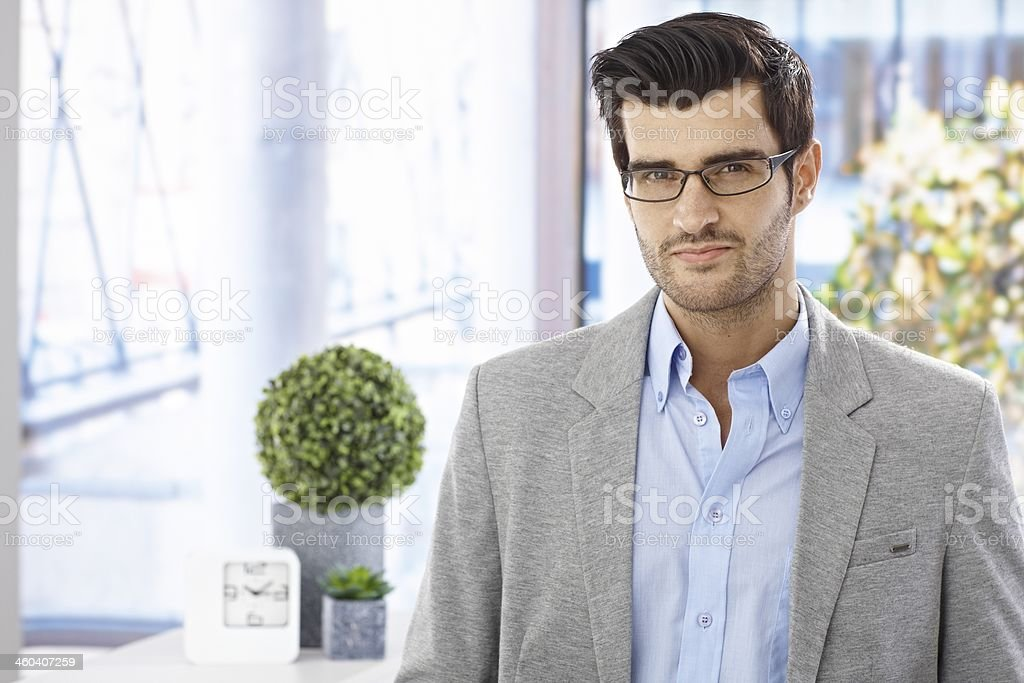 Portrait of goodlooking businessman stock photo