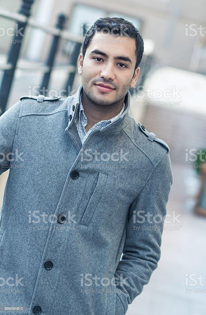 Portrait of gorgeous man stock photo