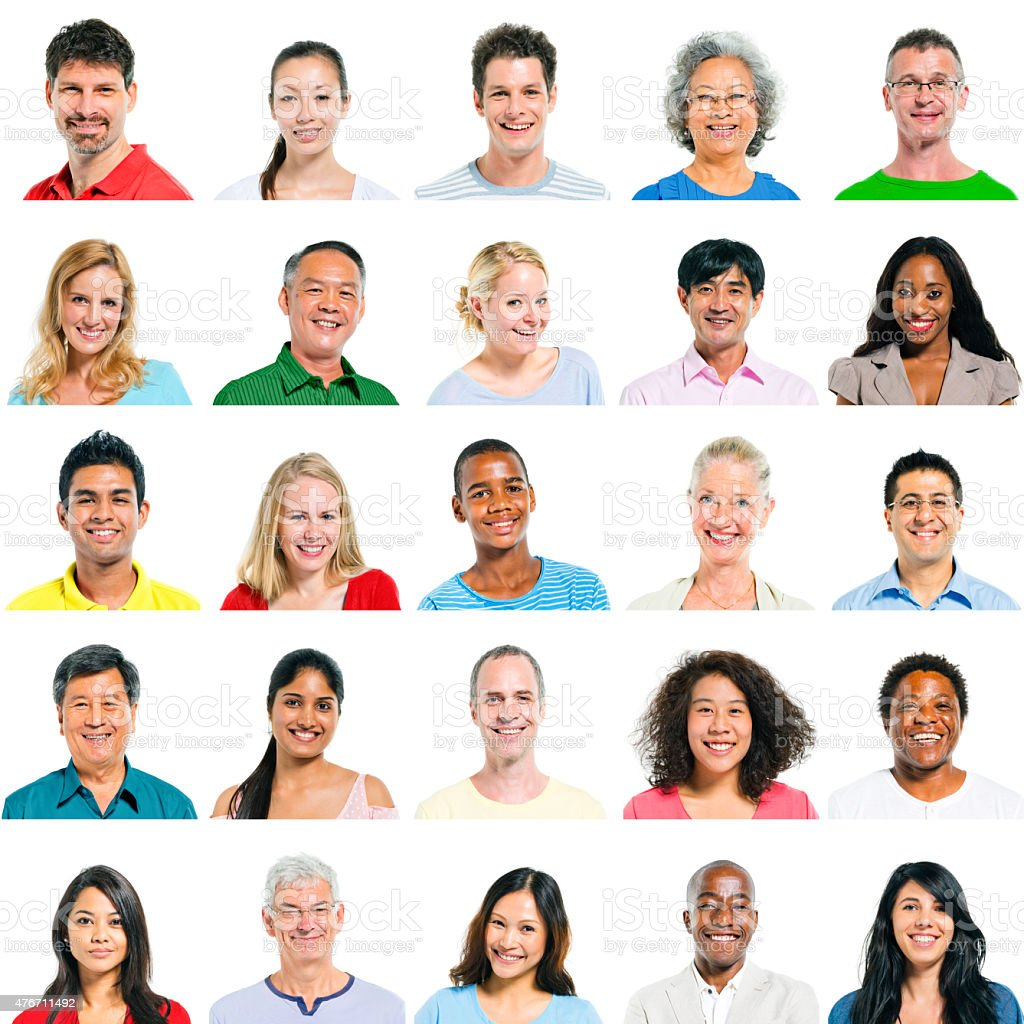 Portrait of Group Diversity People Community Happiness Concept stock photo
