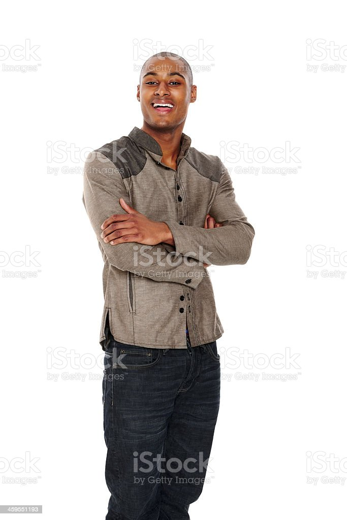 Portrait of handsome young male fashion model royalty-free stock photo