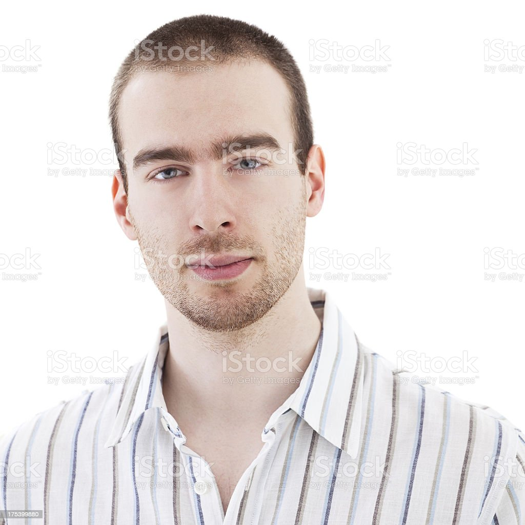 Portrait Of  Handsome  Young Man stock photo