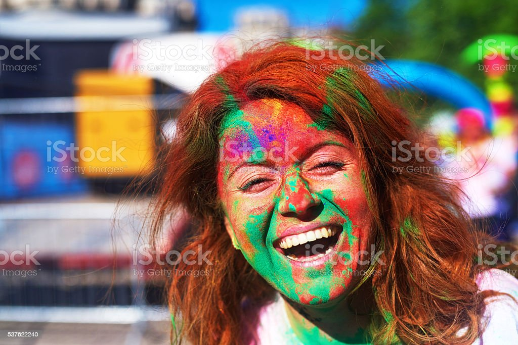 portrait of happiness stock photo