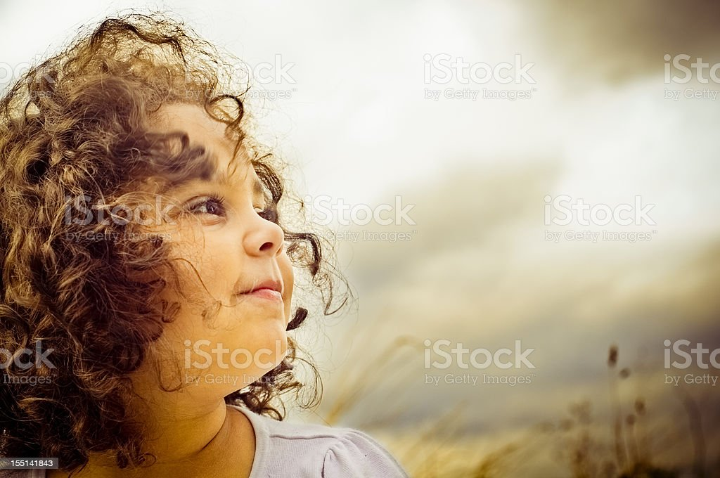 Portrait of Happy 5 Years Old Child royalty-free stock photo