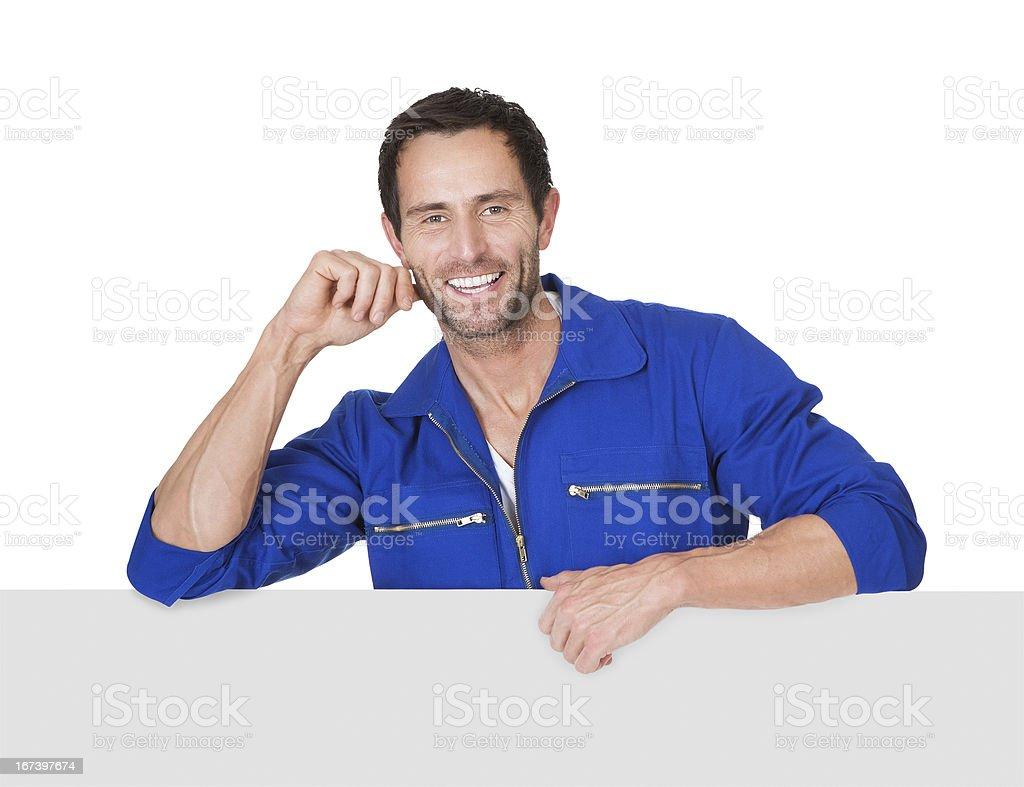 Portrait of happy automechanic royalty-free stock photo