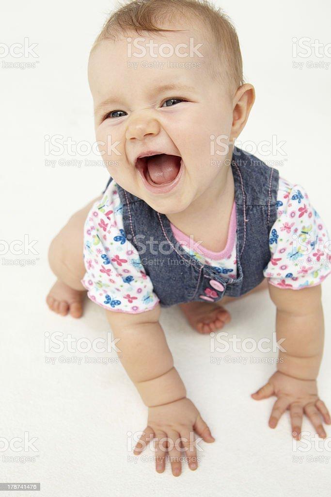 Portrait of happy baby royalty-free stock photo
