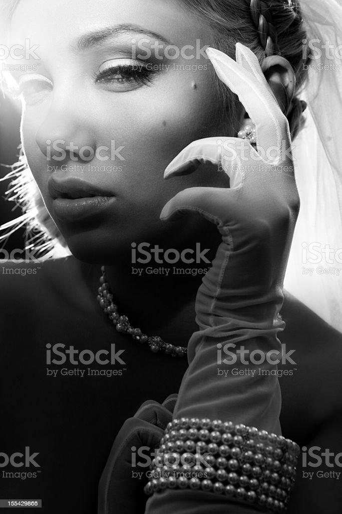 portrait of happy beautiful bride royalty-free stock photo