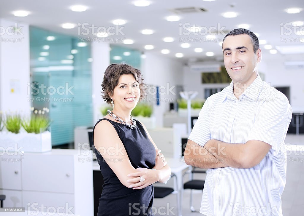 Portrait of happy business people stock photo