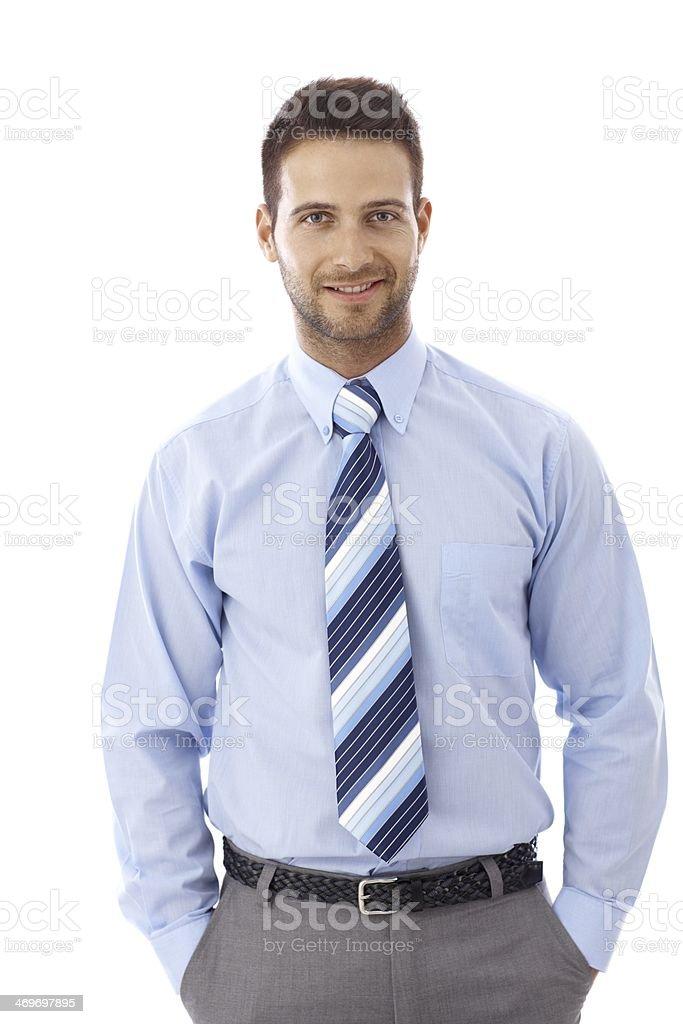 Portrait of happy businessman royalty-free stock photo