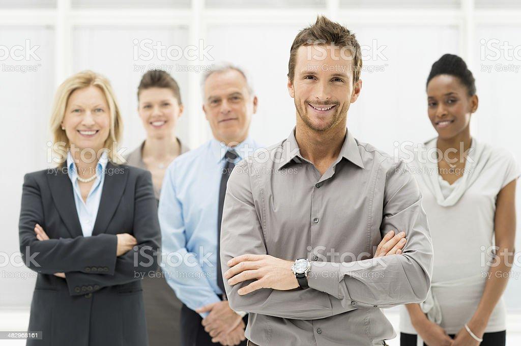 Portrait Of Happy Businesspeople stock photo