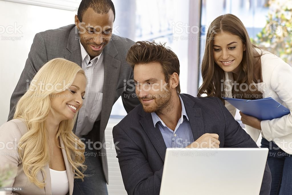 Portrait of happy businessteam royalty-free stock photo
