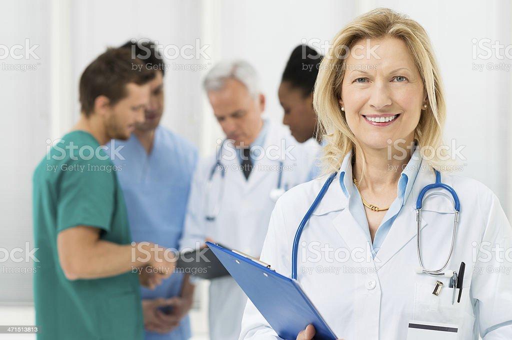 Portrait Of Happy Female Doctor royalty-free stock photo