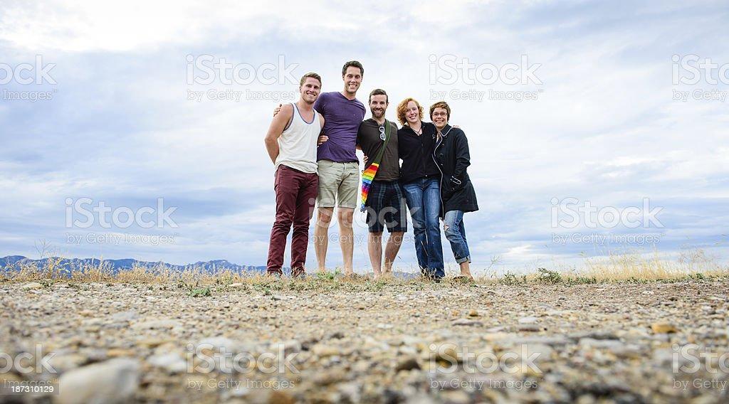 Portrait of Happy Friends royalty-free stock photo