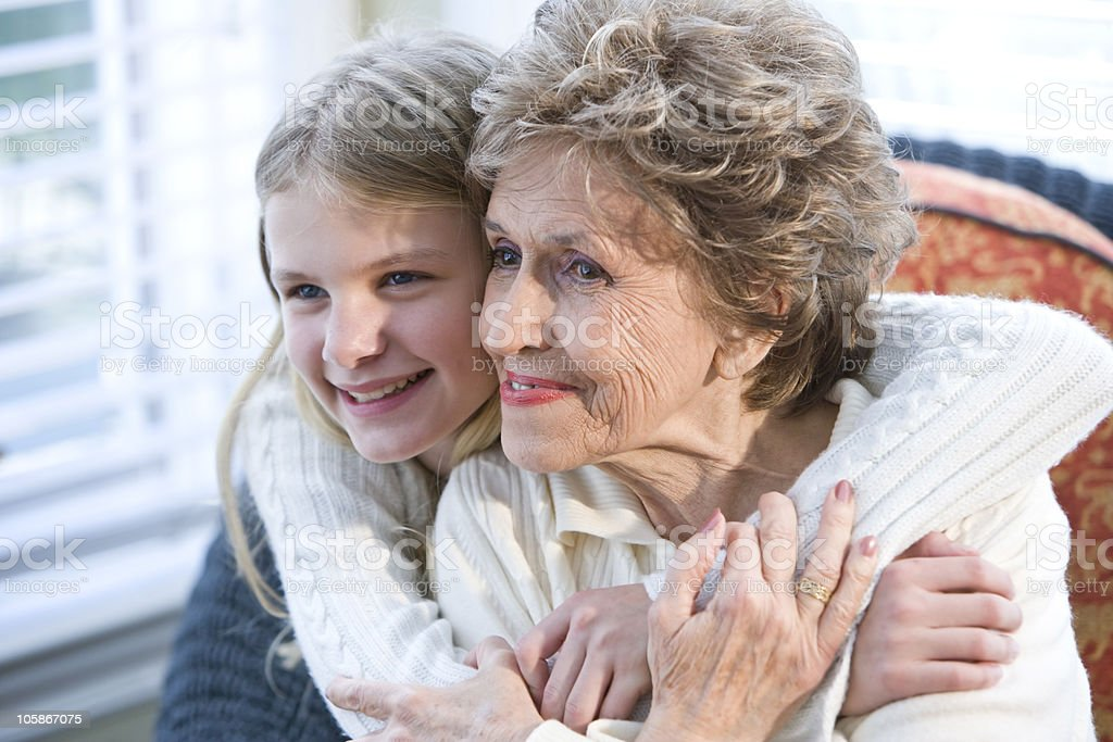 Portrait of happy grandmother with grandchild royalty-free stock photo