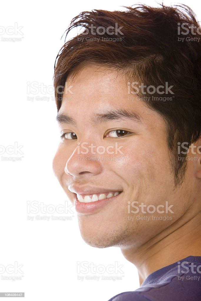Portrait of Happy handsome Asian student is smiling self confident royalty-free stock photo