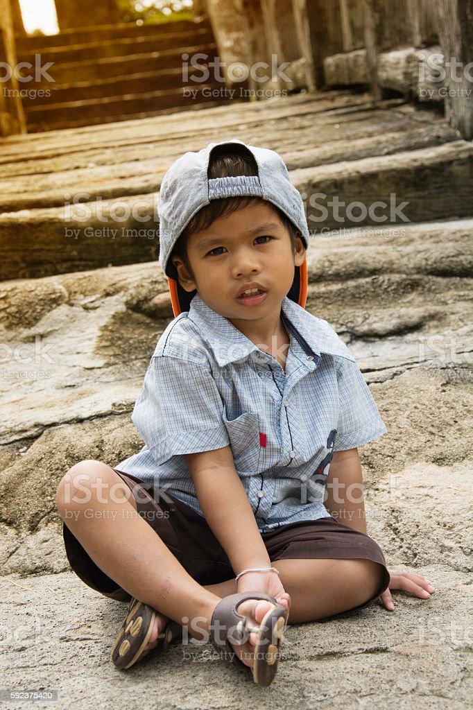 Portrait of happy joyful beautiful little boy, 2 years old royalty-free stock photo