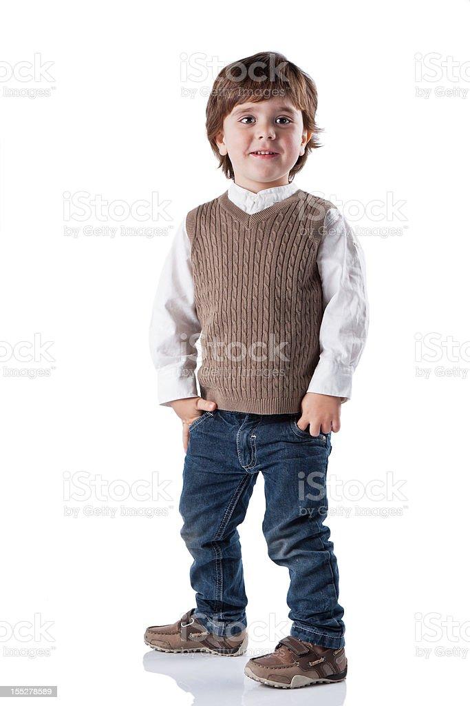 Portrait of happy joyful beautiful little boy. royalty-free stock photo
