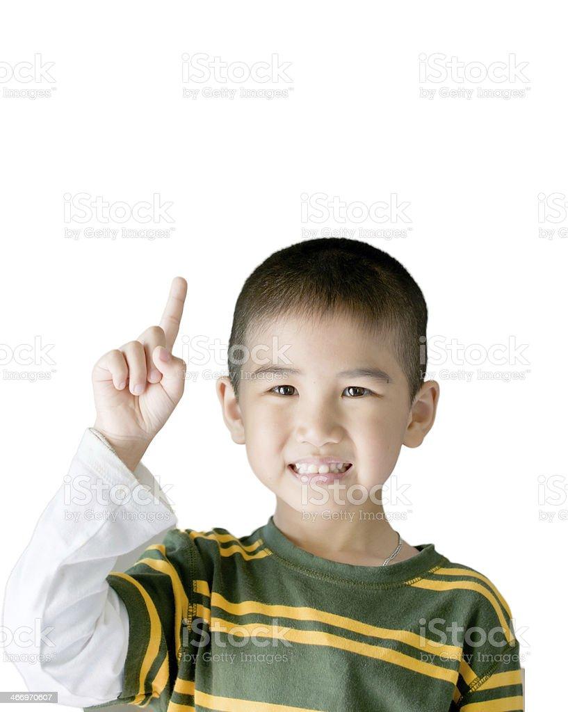 Portrait of happy joyful beautiful little boy royalty-free stock photo