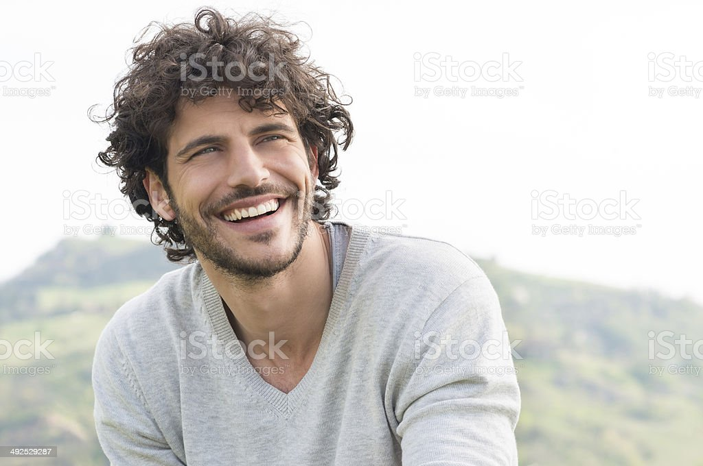 Portrait Of Happy Laughing Man stock photo