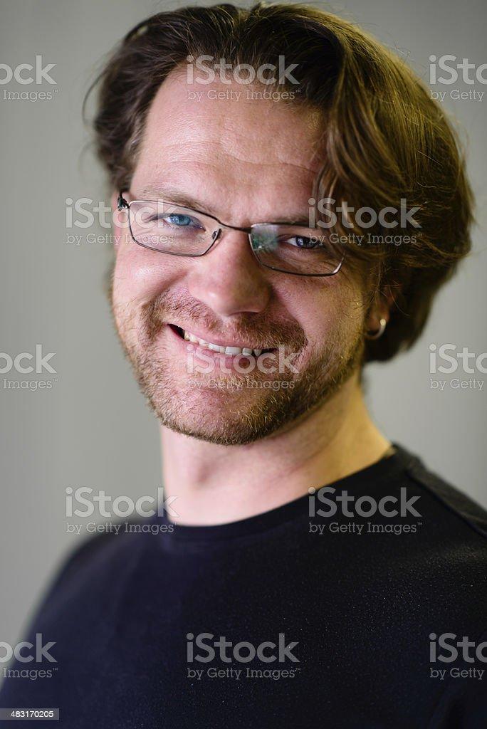 Portrait of Happy Man stock photo
