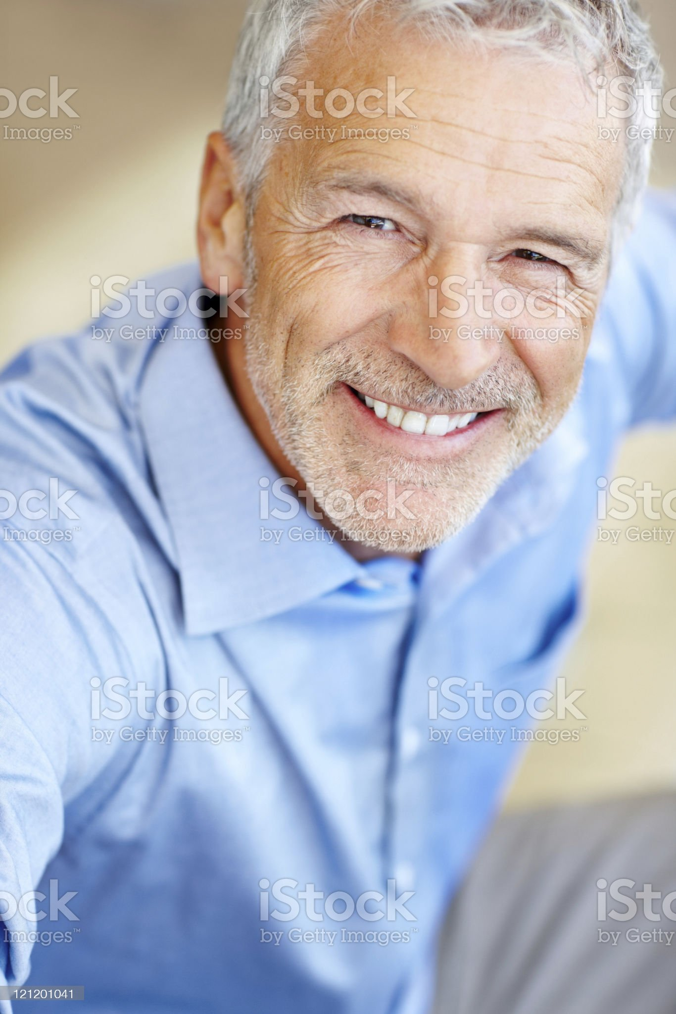 Portrait of happy mature business man smiling royalty-free stock photo
