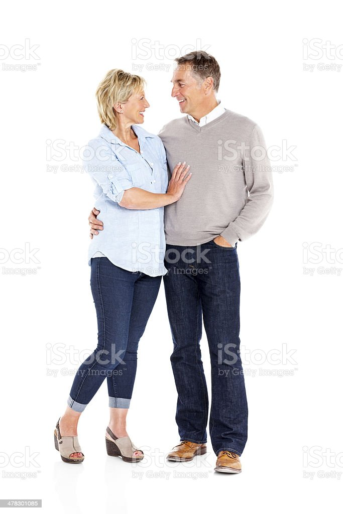 Portrait of happy mature couple standing together royalty-free stock photo