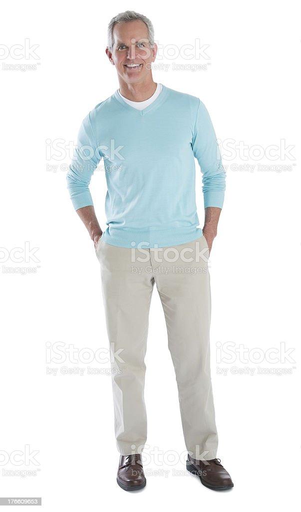 Portrait Of Happy Mature Man In Smart Casuals stock photo