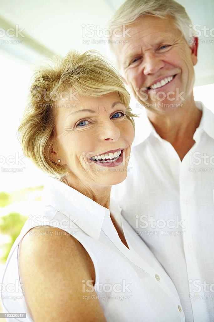 Portrait of happy retired couple royalty-free stock photo
