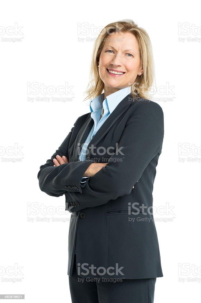 Portrait Of Happy Senior Businesswoman stock photo