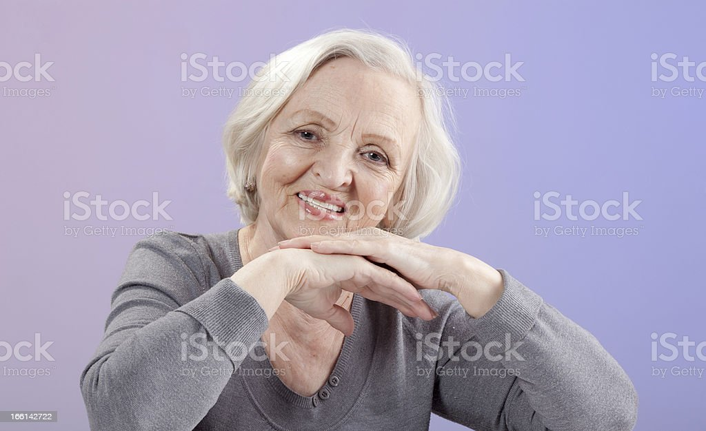 Portrait of Happy Senior Woman. royalty-free stock photo