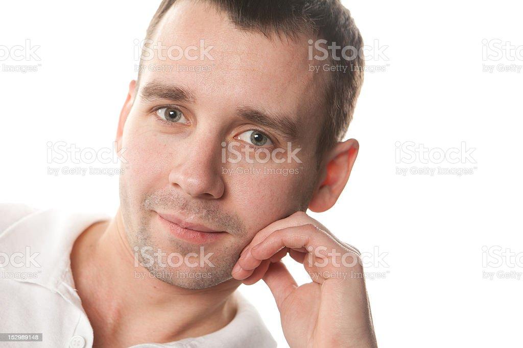 Portrait of happy smiling man royalty-free stock photo