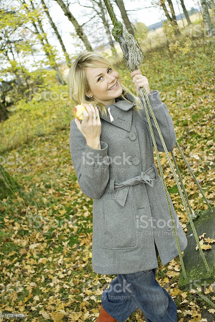 portrait of happy woman outdoors royalty-free stock photo