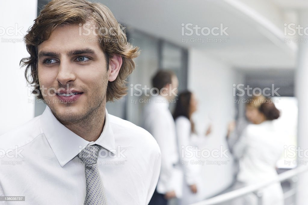 Portrait of happy young businessman royalty-free stock photo