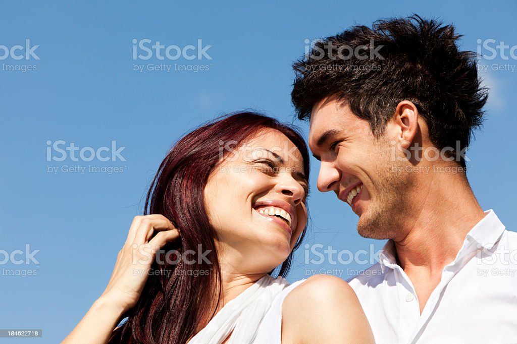 Portrait Of Happy Young Couple royalty-free stock photo
