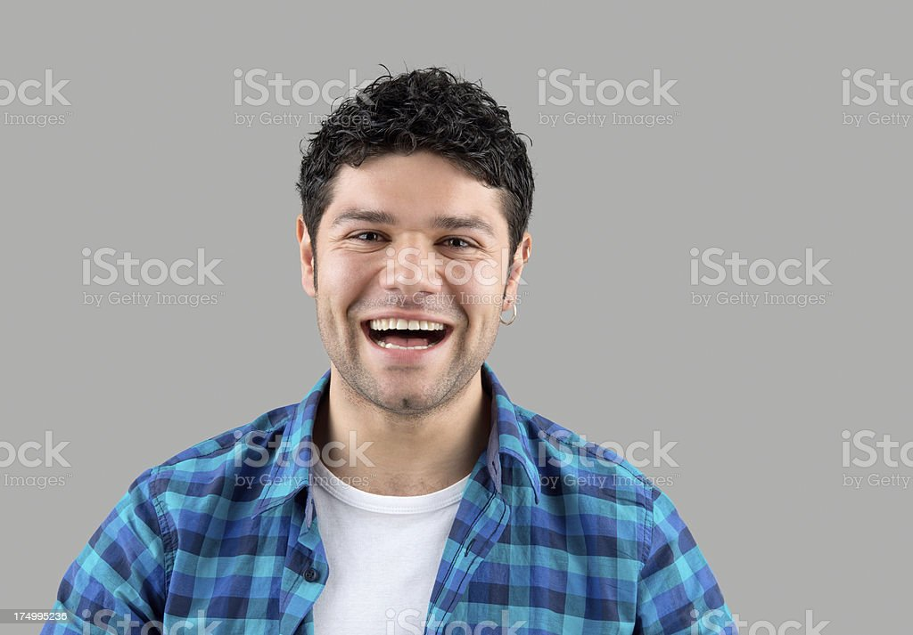 Portrait of happy young man royalty-free stock photo