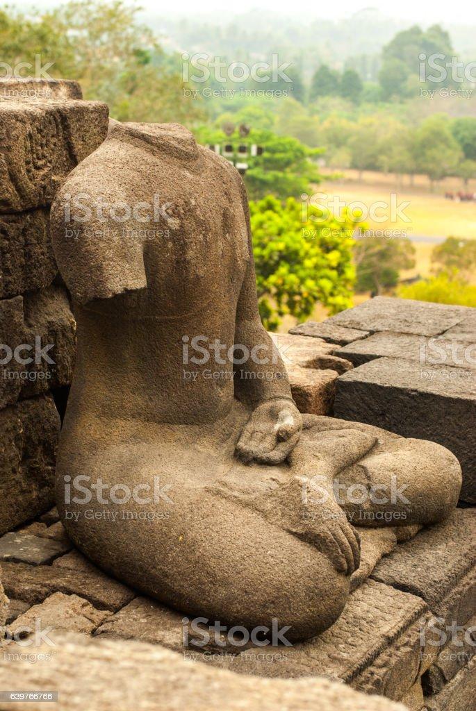 Portrait of Headless and armless Buddha stock photo