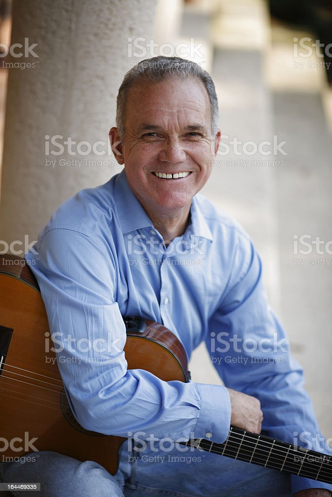 Portrait of Hispanic Senior man smiling royalty-free stock photo