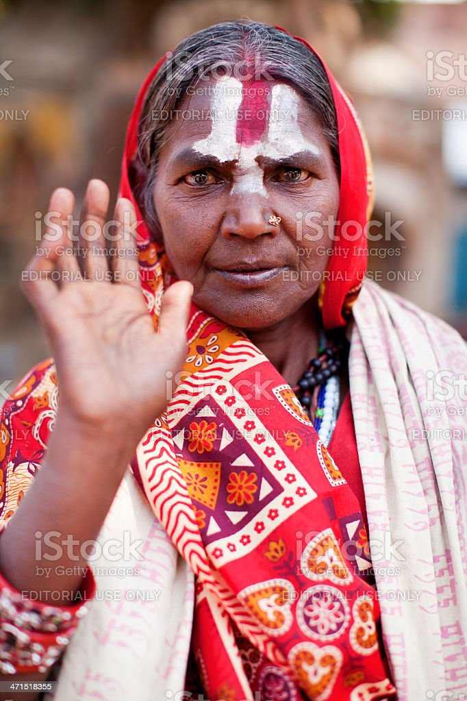 Portrait of Holy Sadhu woman royalty-free stock photo