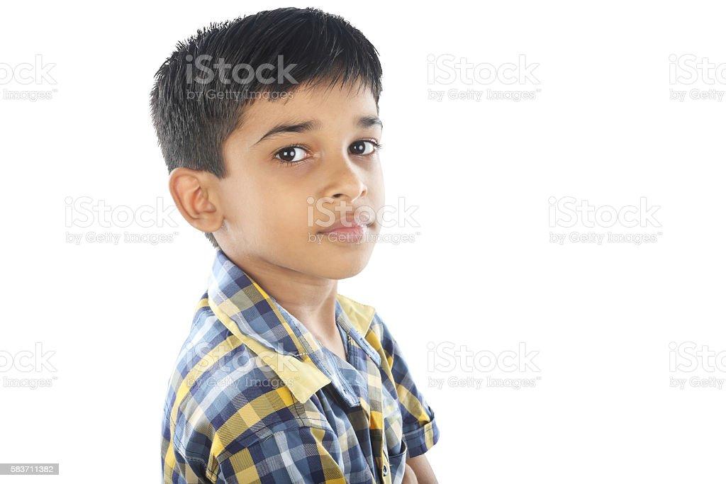 Portrait of Indian Boy stock photo