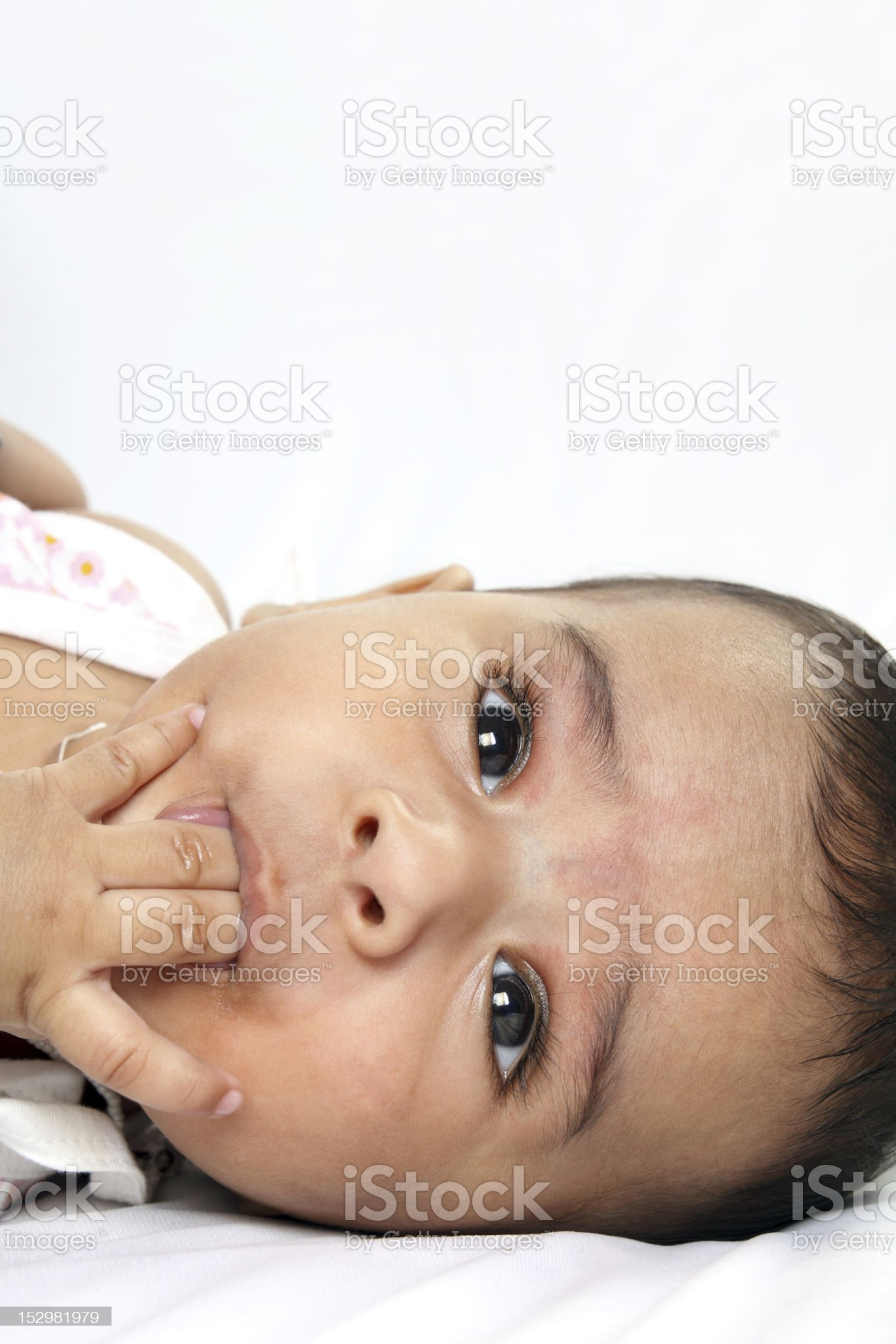Portrait Of Indian Cute Baby royalty-free stock photo