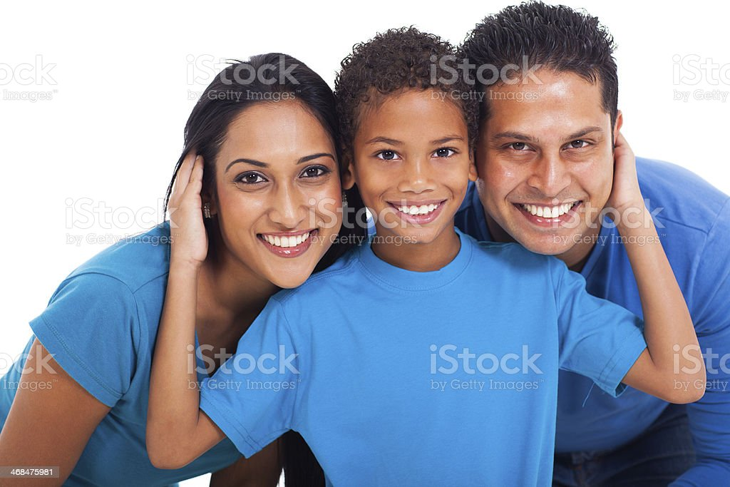 portrait of indian family royalty-free stock photo