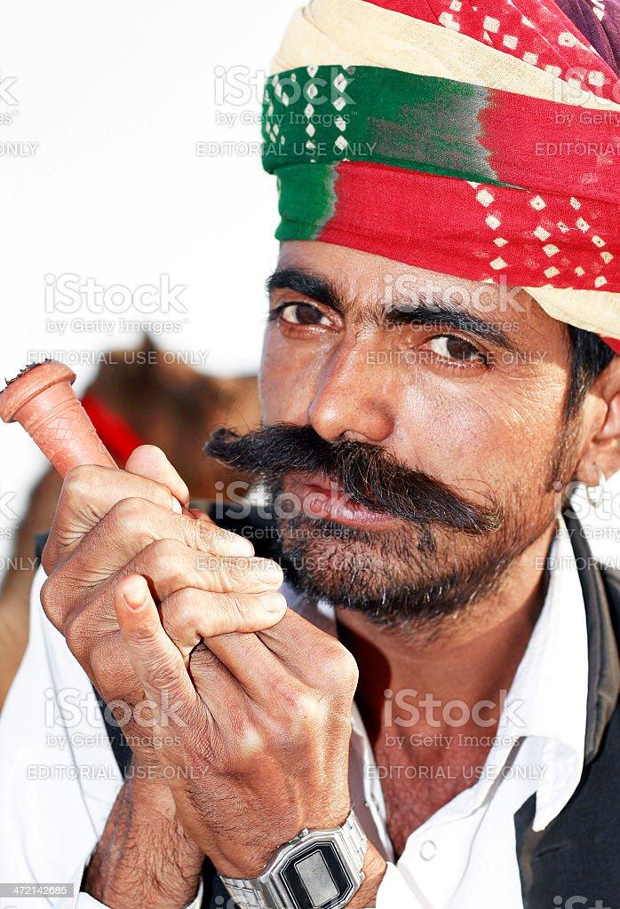 Portrait of Indian man stock photo