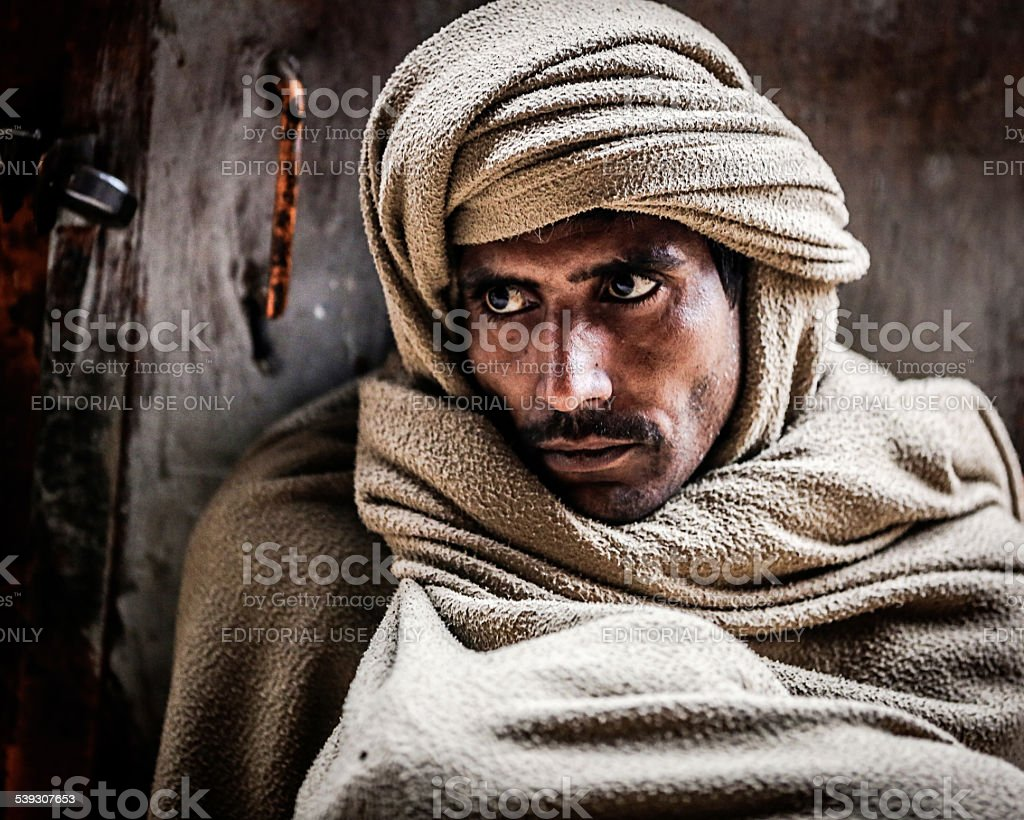 Portrait of Indian man stock photo