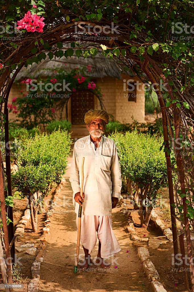Portrait of Indian old man royalty-free stock photo