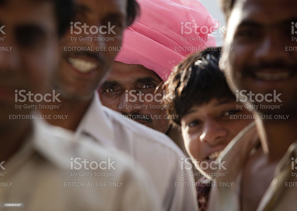 Portrait of Indian people stock photo