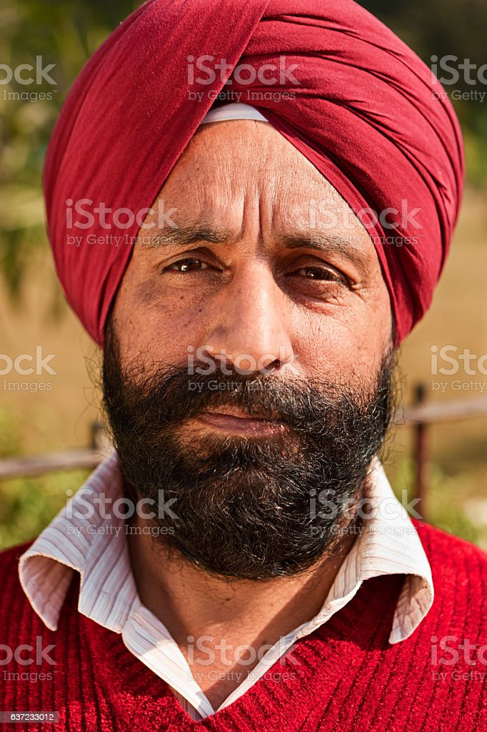 Portrait of Indian Sikh man stock photo