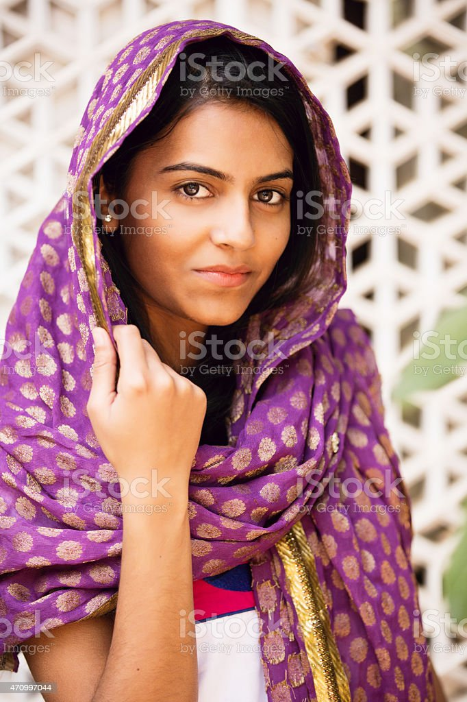 Portrait of Indian Woman stock photo